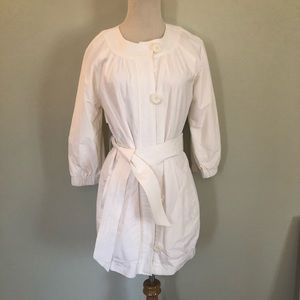 Vince Off White Lined Belted Raincoat Sz: XS 🌂💦
